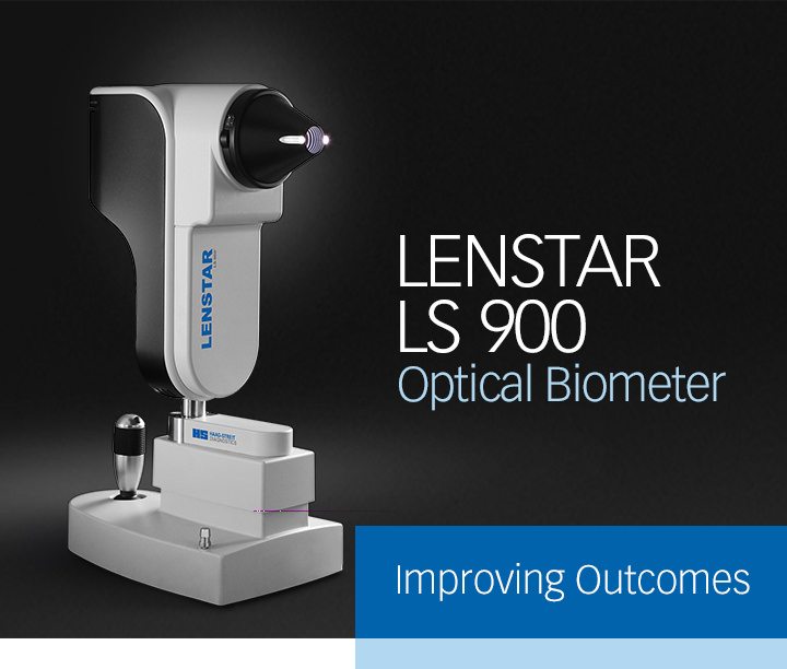 LENSTAR LS 900 Optical Biometer. Improving Outcomes.
